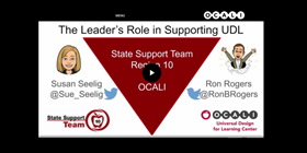 the leaders role in supporting in UDL