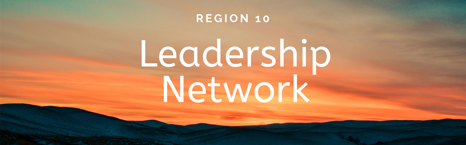 "image of sunrise with white letters reading ""leadership network"""
