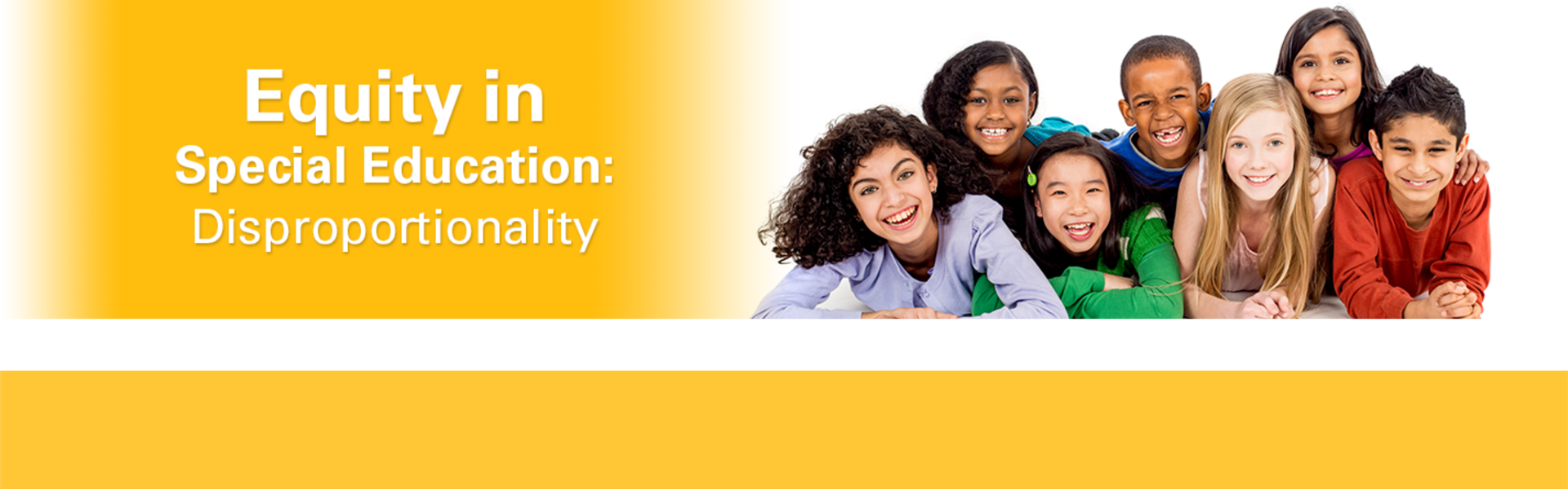 Equity in Special Education: Disproportionality banner