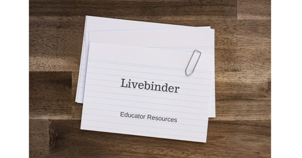 "index cards with ""livebnder"" printed on them"