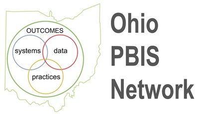 pbis logo outlined in shape of ohio