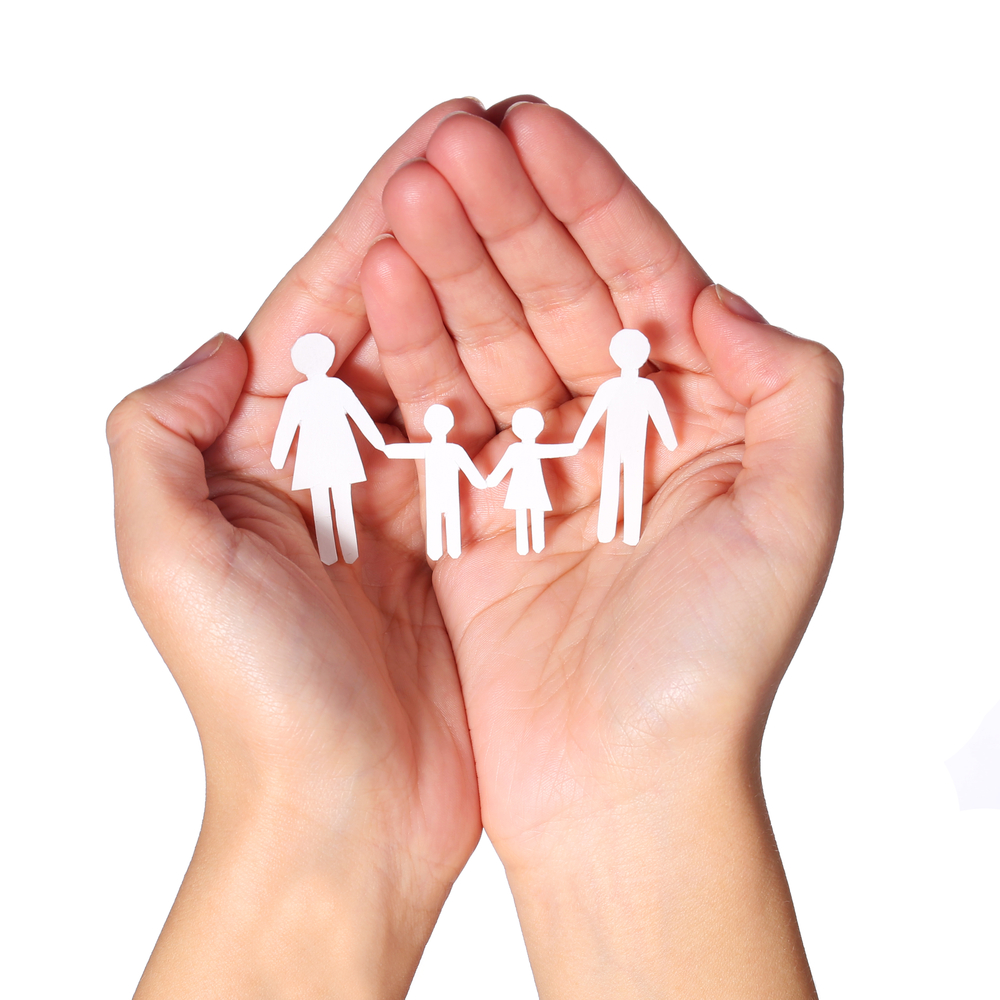 picture of hands holding family