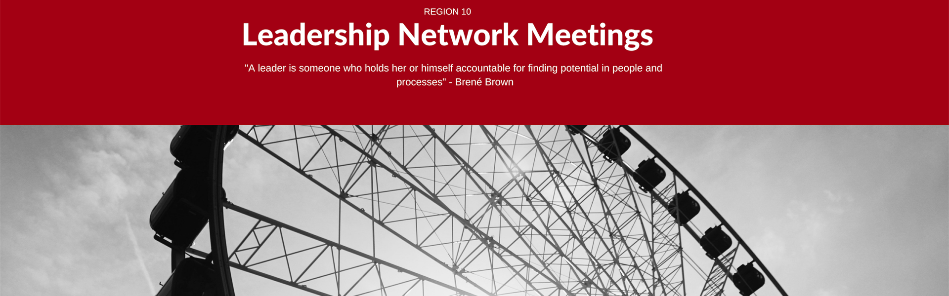 image of ferris wheel and the words Leadership Network